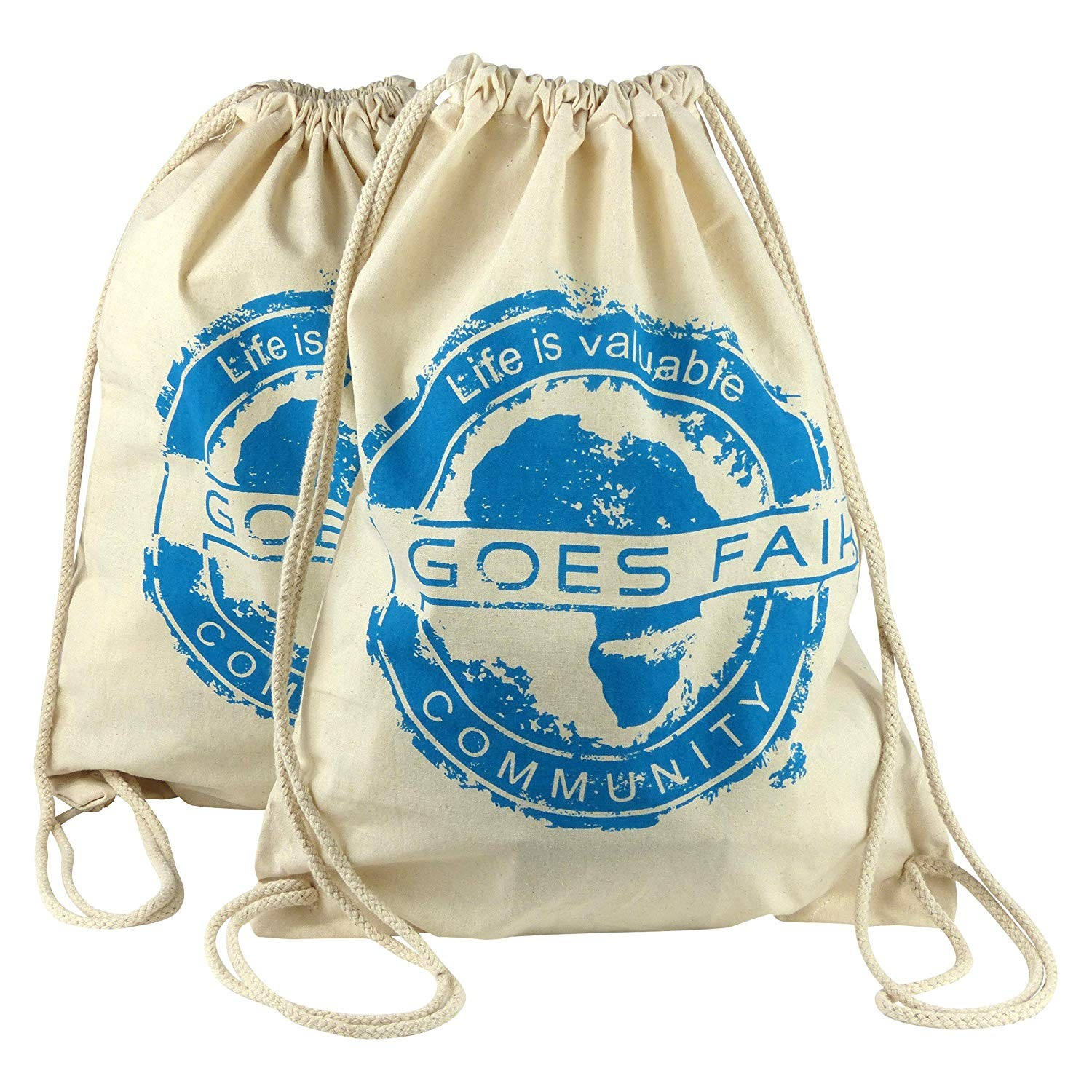 GOES FAIR® Gymbag türkis - 2er-Set