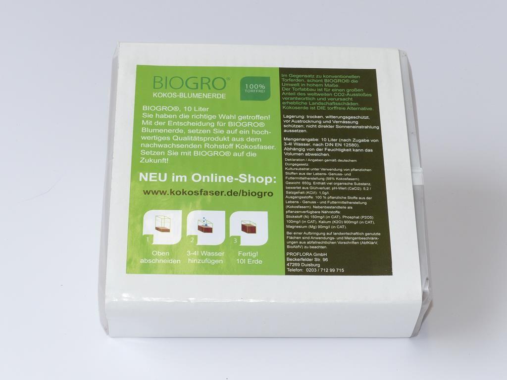 Kokosfaser Humusziegel 10 Liter im Quellbeutel