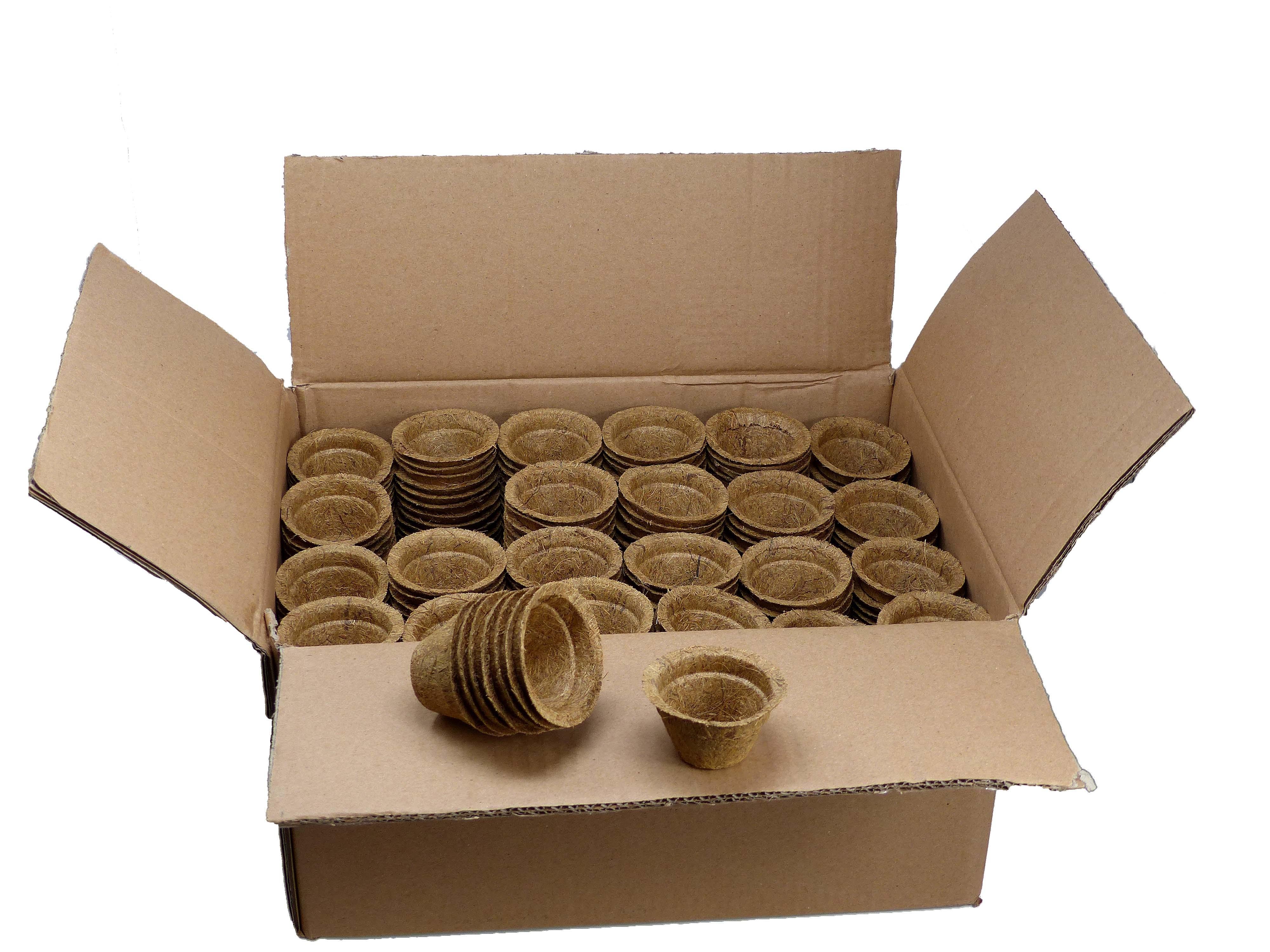 Kokosfaser Anzuchttopf 0,05 Liter - 500 Stück im Karton