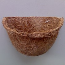 Kokosfaser Hängekorb Pflanzkorb Terrarium - halbrund 10 x 8 cm