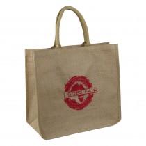 GOES FAIR® Jute Tasche 43x38x19 cm - rot - Jede Tasche eine Mahlzeit