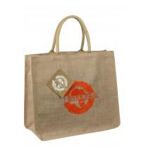 GOES FAIR® Jute Tasche 43x38x19 cm - orange (KL) - Jede Tasche eine Mahlzeit