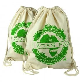 GOES FAIR® Gymbag grün - 2er-Set - Jede Tasche eine Mahlzeit