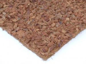 Kokosfaser Rückwand mit Hust Chips 50 x 50 cm