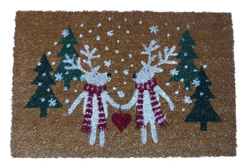 """Fußmatte 40x60cm Weihnachtsmotiv """"Eisbären"""" natur"""
