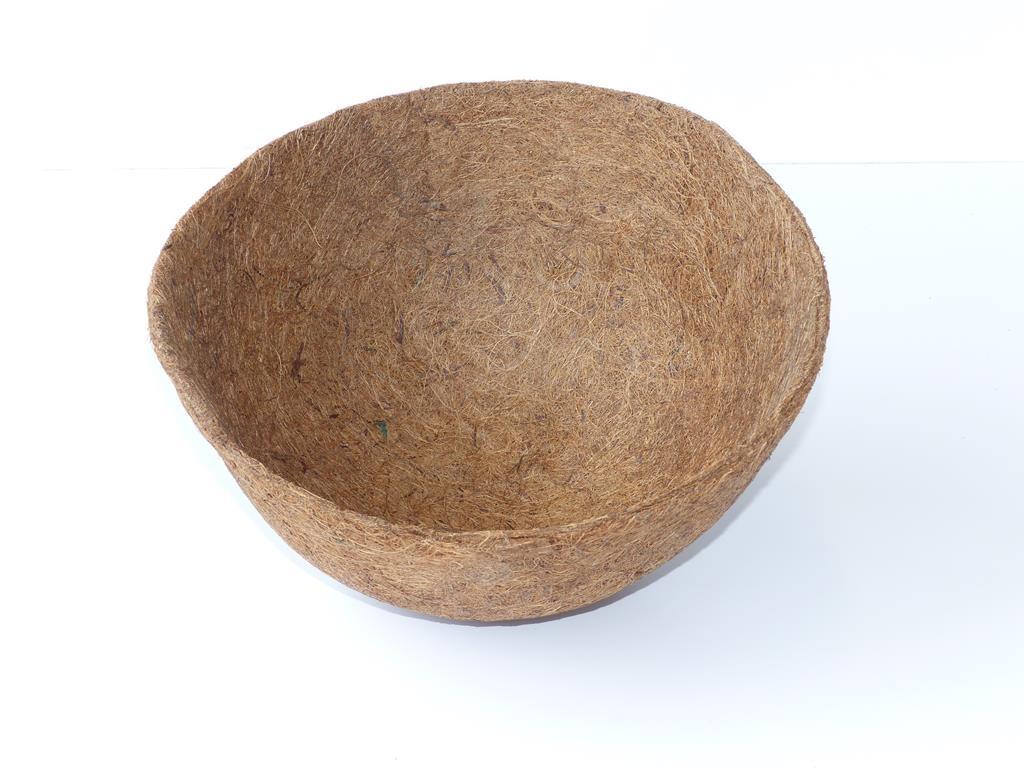 Kokoseinlage mit Tropfschutz für Blumenampel - 30 cm