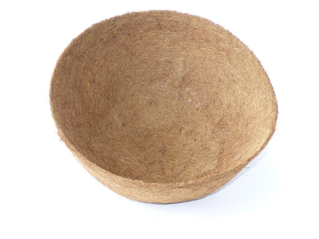 Kokoseinlage mit Tropfschutz für Blumenampel - rund - 40 cm