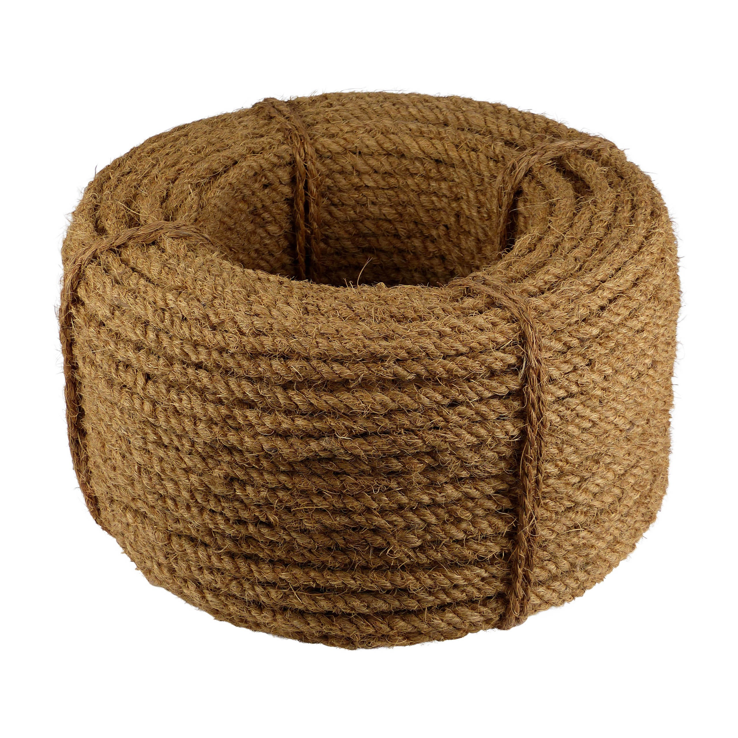 Kokosseil - Baumbindeband - Naturseil - Länge 100m - Stärke ca. 10 mm - 3fach gewickelt - sehr robust und stark