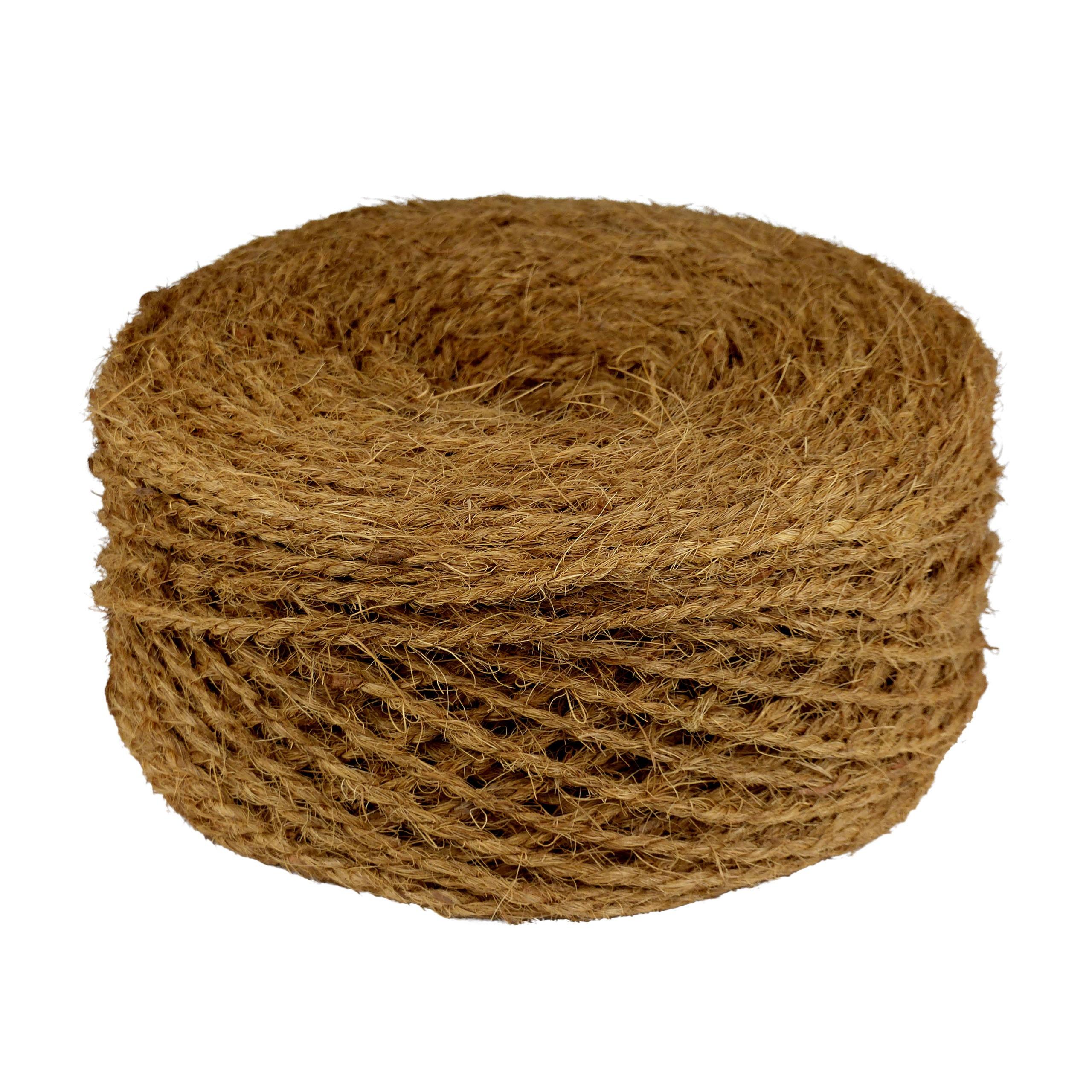 Kokosseil - Baumbindeband - Naturseil - Länge 200 m - Stärke ca. 4 mm - 2fach gewickelt - 1