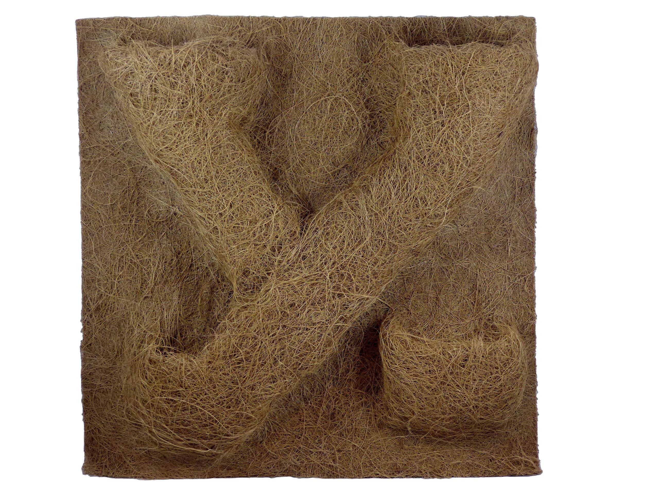 Kokosfaser Rückwand 30 x 30 mit Pflanztaschen
