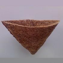 Kokosfaser Hängekorb Bepflanzung Terrarium - eckig  10 x 10,5 cm