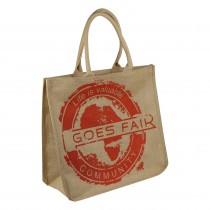 GOES FAIR® Jute Tasche 43x38x19 cm - orange (GL) - Jede Tasche eine Mahlzeit