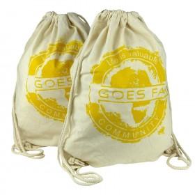GOES FAIR® Gymbag gelb - 2er-Set - Jede Tasche eine Mahlzeit