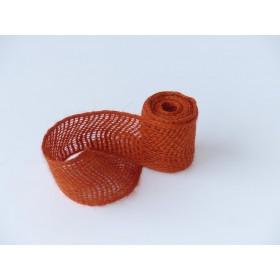 Jute Wickelband terracotta - 6 cm x 3 m