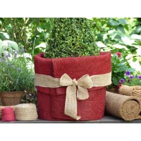 Kokosfaser Matte Winterschutz für Garten und Pflanzen - rot - 150 x 50 cm - Rolle