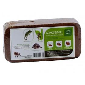 proflora Kokosfaser Bodengrund Terrarium - Humusziegel Standard - Vorteilspaket 24 x 8 Liter