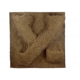 Kokosfaser Rückwand Terrarium 40 x 40 cm - mit 4 Pflanztaschen