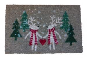 """Fußmatte 40x60cm Weihnachtsmotiv """"Eisbären"""" grau"""