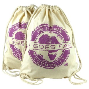 GOES FAIR® Gymbag lila - 2er-Set