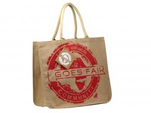 GOES FAIR® Jute Tasche 43x38x19 cm - rot (GL) - Jede Tasche eine Mahlzeit