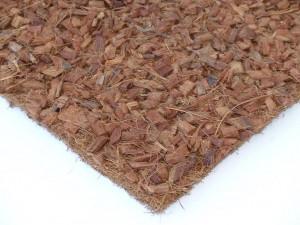 Kokosfaser Rückwand mit Hust Chips 40 x 40 cm