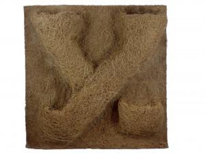 Kokosfaser Rückwand 40 x 40 mit 4 Pflanztaschen