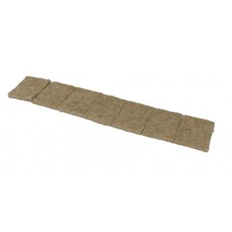 Hanfpad Anzuchtvlies Kressematte 75 x 113 mm - 7er-Kette - kleine VPE 112 Pads/Karton